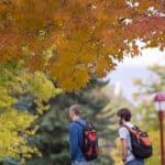 students on denver campus