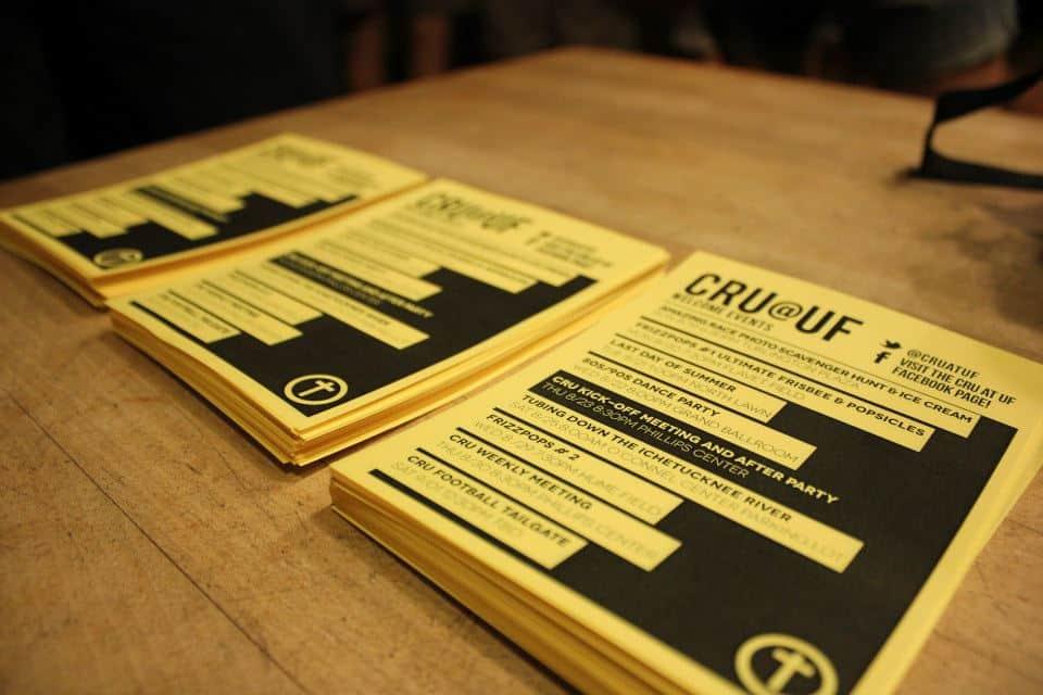 cru at UF welcome week events